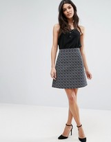 Lavand Geo Textured Mini Skirt