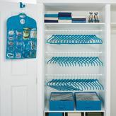 JOY 100-piece Huggable Hangers Closet and Storage Makeover Set - Chrome