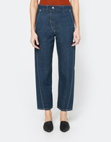 Lemaire Twisted Pants in Jade Blue