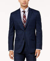 Alfani Men's Traveler Slim-Fit Navy Checkered Suit Jacket, Created for Macy's