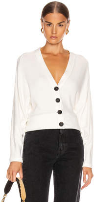 Enza Costa Sweater Knit Dropped Cardigan in Winter White | FWRD