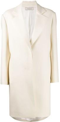 Nina Ricci Structured Flared Single Breasted Coat