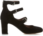 Tabitha Simmons Ginger suede block-heel pumps