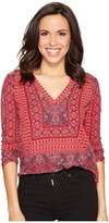 Lucky Brand Border Print Top Women's Clothing