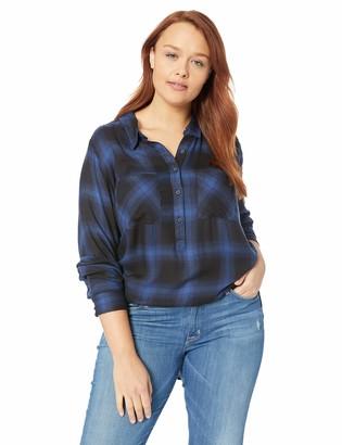 Lucky Brand Women's Plus Size Tunic Plaid Shirt