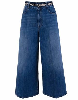 Stella McCartney High Rise Crop Straight Orgeco Jean