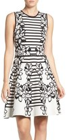 Eliza J Sweater Fit & Flare Dress