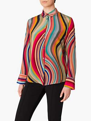 Paul Smith Swirl Silk Shirt, Multi