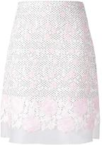 Giambattista Valli floral macramé straight skirt - women - Silk/Cotton/Polyamide/Polyester - 38