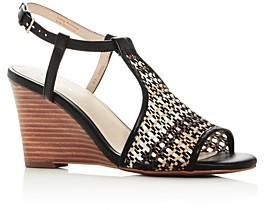 Cole Haan Women's Maddie Open Toe Wedge Heel Sandals
