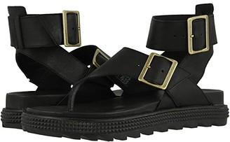Sorel Roamingtm T-Strap (Black) Women's Shoes