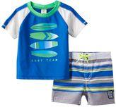 "Osh Kosh Baby Boy Surf Team"" Rashguard & Swim Shorts Set"