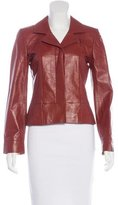 Chanel Leather Fitted Jacket