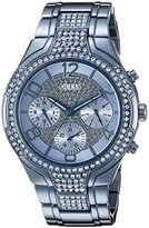 GUESS Women's U0628L6 Iconic Sporty Sky Blue Watch with Multi-Function Dial