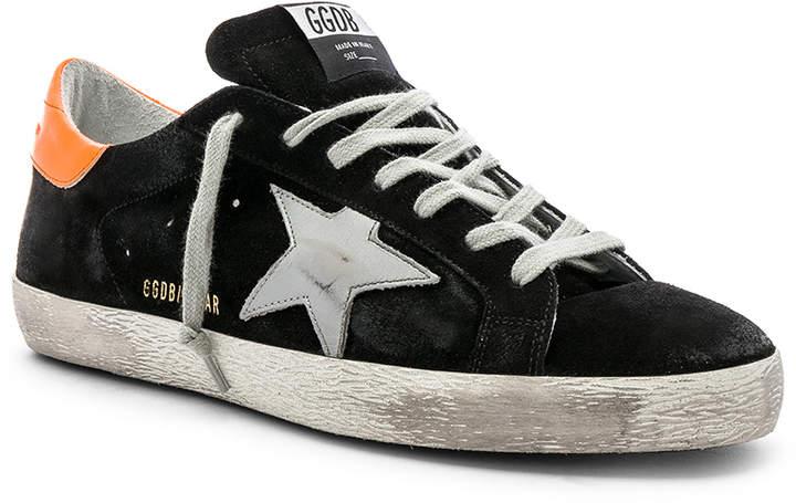 Golden Goose Superstar Sneaker in Black & Silver | FWRD