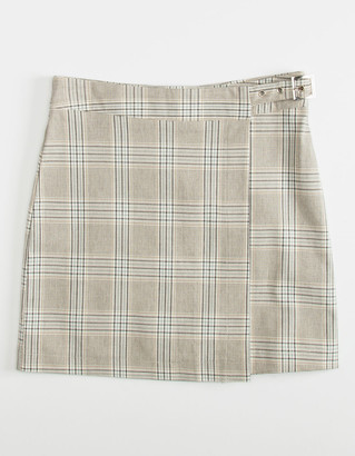 WHITE FAWN Plaid Girls Wrap Skirt