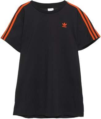 adidas Paneled Cotton-jersey And Mesh T-shirt