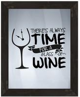 PTM Images Time for Wine Framed Silkscreen