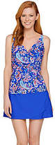 As Is Isaac Mizrahi Live! Paisley Print Tankini Swimsuitw/Skirt