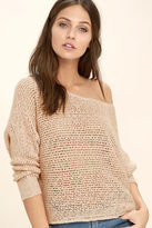 Billabong Dance With Me Blush Cropped Sweater