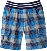 Old Navy Jersey-Waist Plaid Shorts for Baby