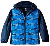Columbia Kids Pixel Grabbertm Reversible Jacket (Little Kids/Big Kids) (Super Blue Camo Stripe/Collegiate Navy) Boy's Coat