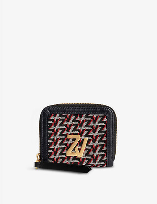 Zadig & Voltaire ZV Initiale Le Compact leather zip wallet