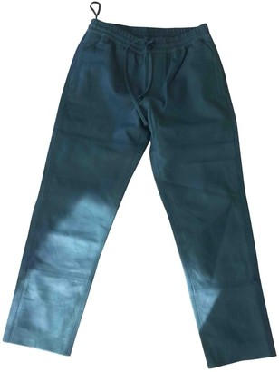 Zadig & Voltaire Green Leather Trousers