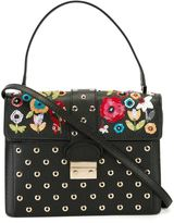 RED Valentino sequinned flower tote