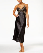 Thalia Sodi Lace-Trimmed V-Back Satin Nightgown, Only at Macy's