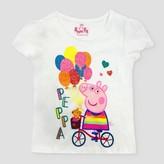 Peppa Pig Toddler Girls' 'Peppa On Bike' ITG T-Shirt - White