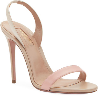 Aquazzura So Nude Two-Tone Slingback Sandals