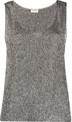 Saint Laurent Metallic Sleeveless Top
