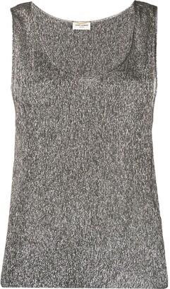 Saint Laurent metallic sleeveless top