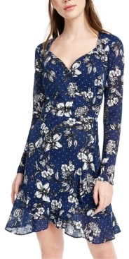 B. Darlin Juniors' Floral A-Line Dress
