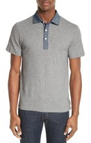Todd Snyder Men's Chambray Slim Polo