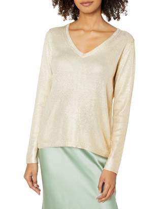 Majestic Filatures Women's Silk Long Sleeve V-Neck Sweater
