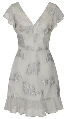 Dorothy Perkins Womens Chi Chi London Silver Clemmie Dress, Silver