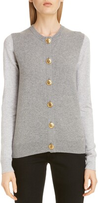 Givenchy Bicolor Cashmere Cardigan