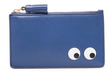 Anya Hindmarch 'Eyes' embossed leather zip card holder