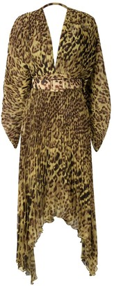 Adriana Degreas leopard print midi dress