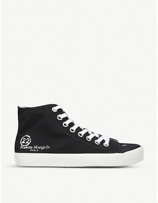 Maison Margiela Tabi cleft-toe canvas high-top trainers
