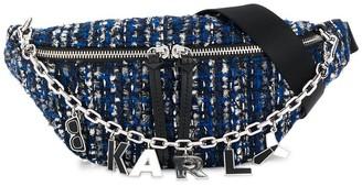 Karl Lagerfeld Paris K/Studio tweed patterned belt bag