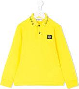 Stone Island Junior long sleeved polo shirt