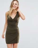 Wal G V Front Bodycon Dress