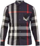 Burberry Thornaby House-check cotton-blend shirt