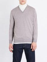Canali V-neck wool jumper