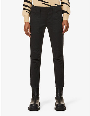 Frame Trapunto Moto straight mid-rise jeans