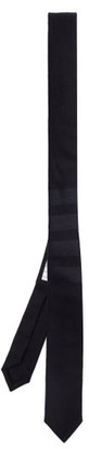Thom Browne Four Bar-jacquard Wool-blend Tie - Navy