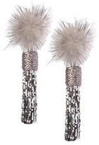 Mignonne Gavigan Mini Jackie Mink Fur Statement Earrings